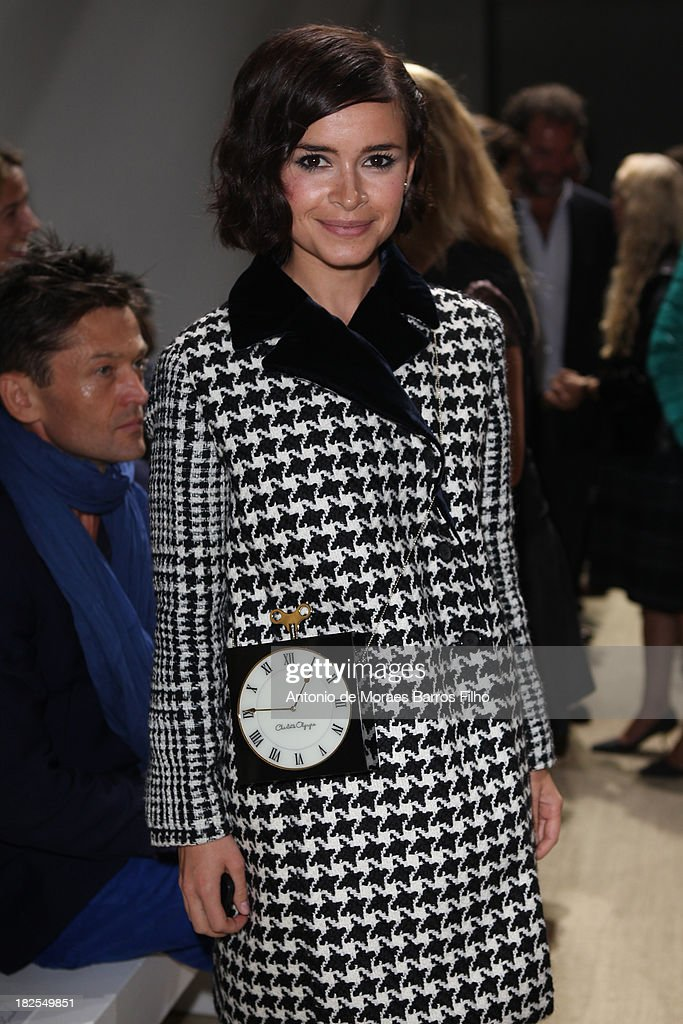 <a gi-track='captionPersonalityLinkClicked' href=/galleries/search?phrase=Miroslava+Duma&family=editorial&specificpeople=7039024 ng-click='$event.stopPropagation()'>Miroslava Duma</a> attends Giambattista Valli show as part of the Paris Fashion Week Womenswear Spring/Summer 2014 on September 30, 2013 in Paris, France.
