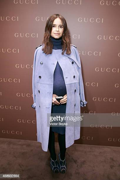 Miroslava Duma attends Gucci New Petrovka Flagship Opening Cocktail Party on November 13 2014 in Moscow Russia