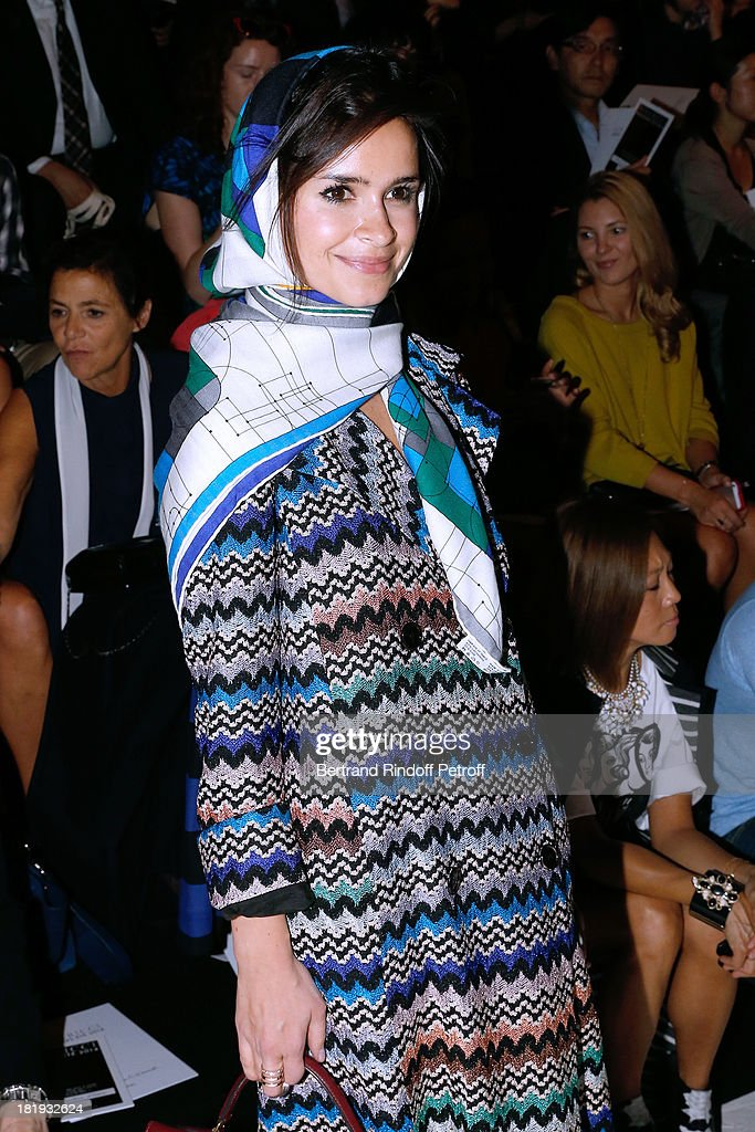 <a gi-track='captionPersonalityLinkClicked' href=/galleries/search?phrase=Miroslava+Duma&family=editorial&specificpeople=7039024 ng-click='$event.stopPropagation()'>Miroslava Duma</a> attends Nina Ricci show as part of the Paris Fashion Week Womenswear Spring/Summer 2014, held at Garden of Tuilleries on September 26, 2013 in Paris, France.