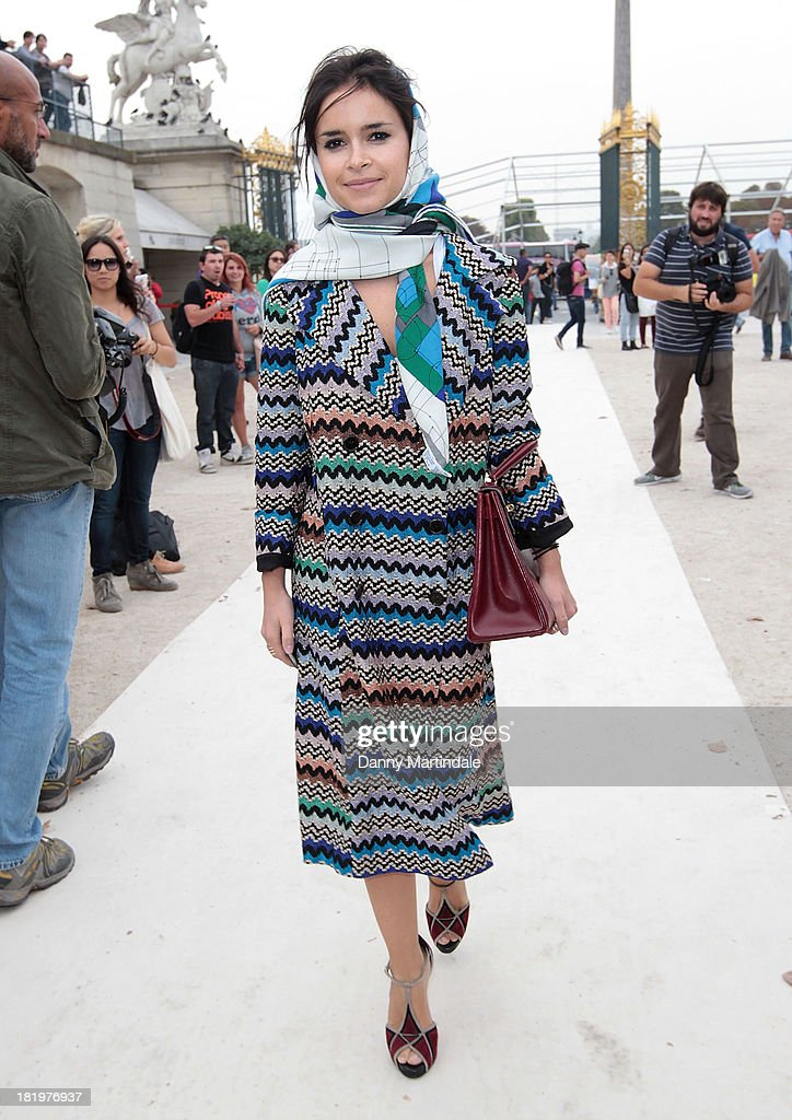 <a gi-track='captionPersonalityLinkClicked' href=/galleries/search?phrase=Miroslava+Duma&family=editorial&specificpeople=7039024 ng-click='$event.stopPropagation()'>Miroslava Duma</a> attends Paris Fashion Week Womenswear Spring/Summer 2014 on September 26, 2013 in Paris, France.