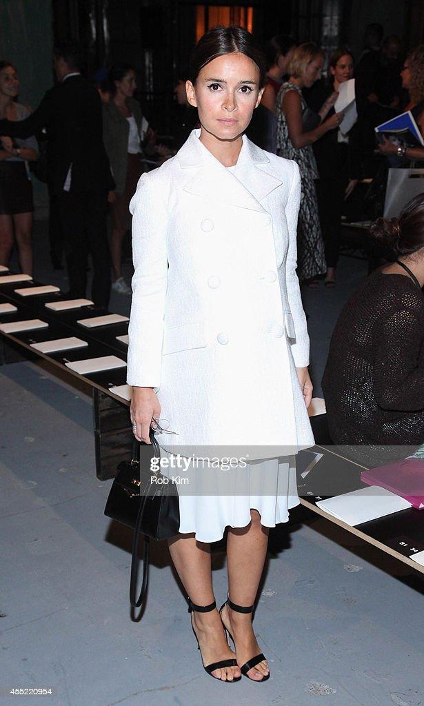 Miroslava Duma attends Proenza Schouler during MercedesBenz Fashion Week Spring 2015 at 23 Wall Street on September 10 2014 in New York City
