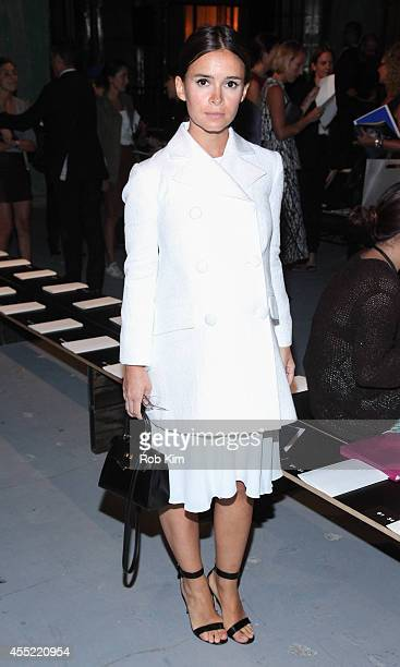 Miroslava Duma attends Proenza Schouler during MercedesBenz Fashion Week Spring 2015 at 23 Wall Street on September 10 2014 in New York City