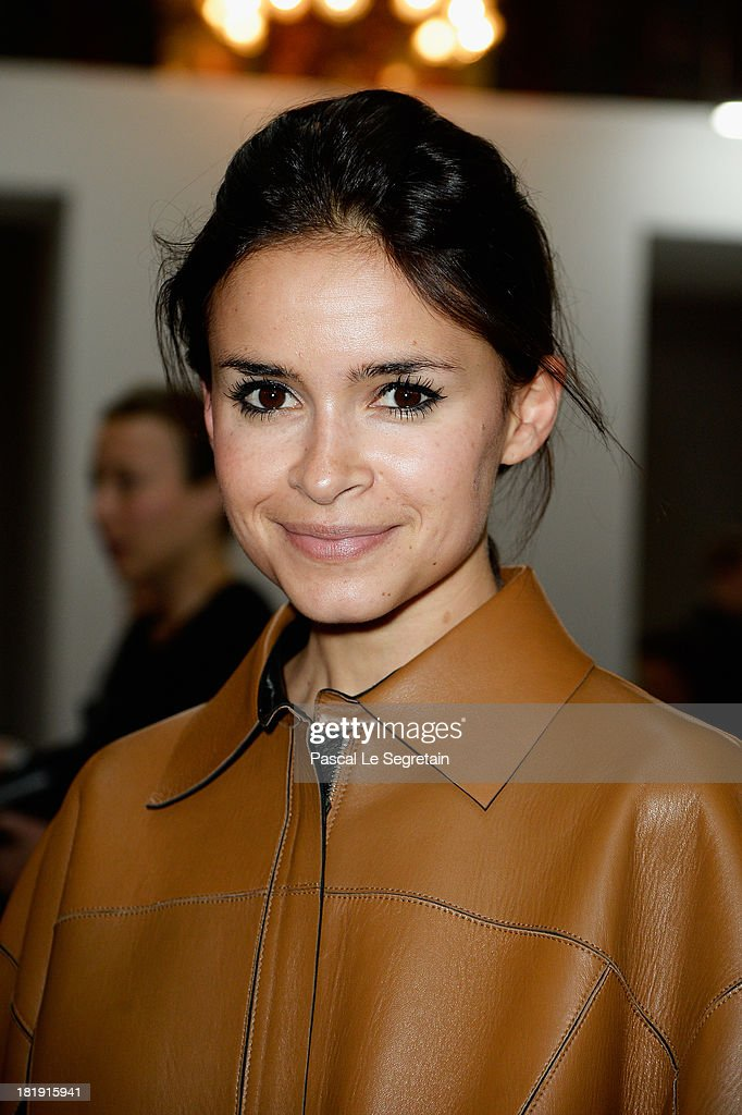 <a gi-track='captionPersonalityLinkClicked' href=/galleries/search?phrase=Miroslava+Duma&family=editorial&specificpeople=7039024 ng-click='$event.stopPropagation()'>Miroslava Duma</a> attends the Balmain show as part of the Paris Fashion Week Womenswear Spring/Summer 2014 at Grand Hotel Intercontinental on September 26, 2013 in Paris, France.