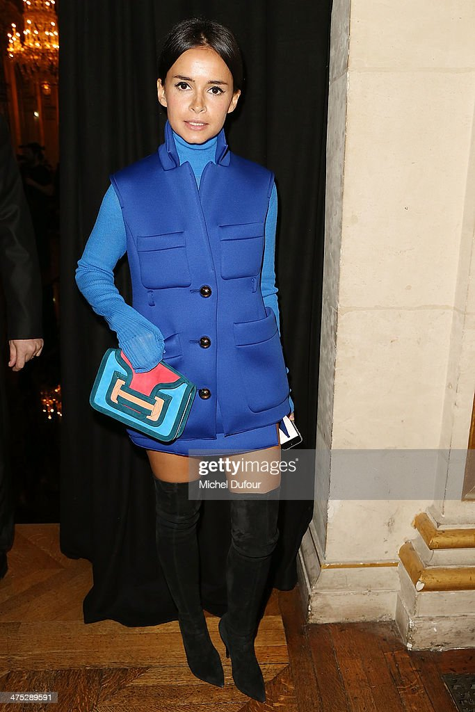 <a gi-track='captionPersonalityLinkClicked' href=/galleries/search?phrase=Miroslava+Duma&family=editorial&specificpeople=7039024 ng-click='$event.stopPropagation()'>Miroslava Duma</a> attends the Balmain show as part of the Paris Fashion Week Womenswear Fall/Winter 2014-2015 on February 27, 2014 in Paris, France.