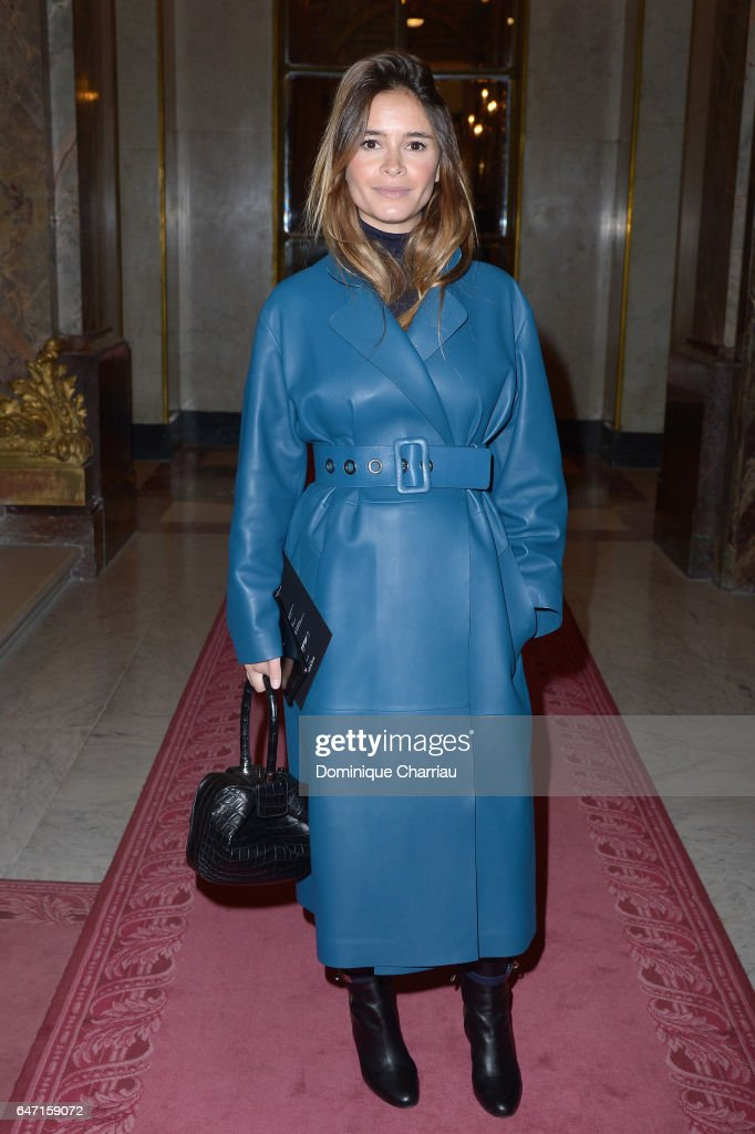 Miroslava Duma attends the Balmain show as part of the Paris Fashion Week Womenswear Fall/Winter 2017/2018 on March 2, 2017 in Paris, France.