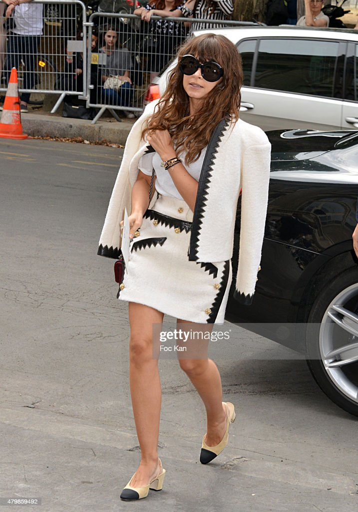 Miroslava Duma Attends the Chanel show as part of Paris Fashion Week Haute Couture Fall/Winter 2015/2016 on July 7 2015 in Paris France