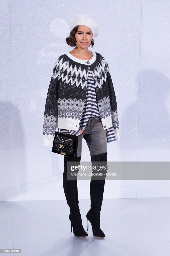 Miroslava Duma attends the Chanel show as part of Paris Fashion Week Haute-Couture Spring/Summer 2014, at Grand Palais in Paris.