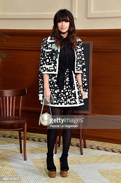Miroslava Duma attends the Chanel show as part of the Paris Fashion Week Womenswear Fall/Winter 2015/2016 on March 10 2015 in Paris France