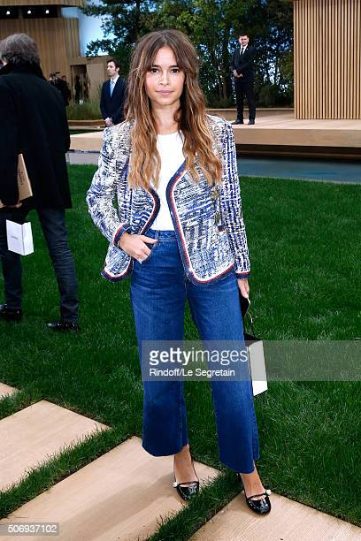 Miroslava Duma attends the Chanel Spring Summer 2016 show as part of Paris Fashion Week on January 26 2016 in Paris France