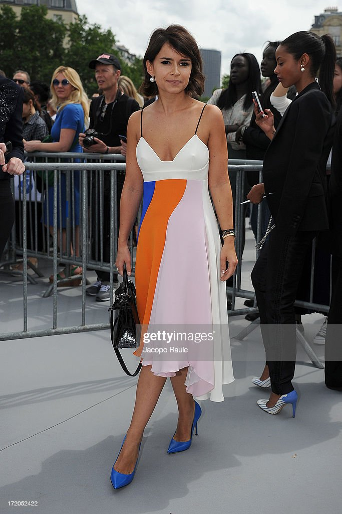 Miroslava Duma attends the Christian Dior show as part of Paris Fashion Week Haute Couture Fall/Winter 2013-2014 at on July 1, 2013 in Paris, France.