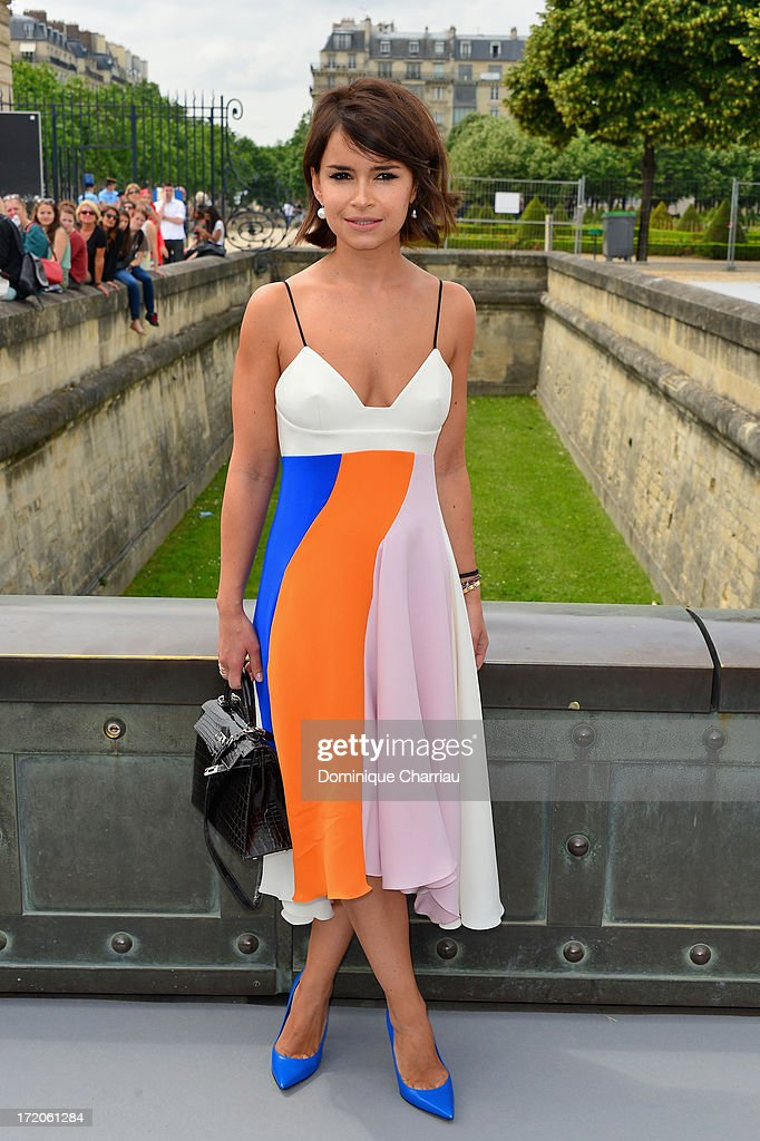 Miroslava Duma attends the Christian Dior show as part of Paris Fashion Week Haute-Couture Fall/Winter 2013-2014 at on July 1, 2013 in Paris, France.