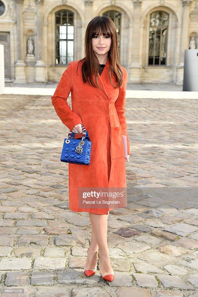 Miroslava Duma attends the Christian Dior show as part of the Paris Fashion Week Womenswear Fall/Winter 2015/2016 on March 6 2015 in Paris France