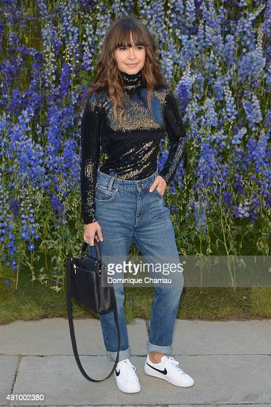 Miroslava Duma attends the Christian Dior show as part of the Paris Fashion Week Womenswear Spring/Summer 2016 on October 2 2015 in Paris France