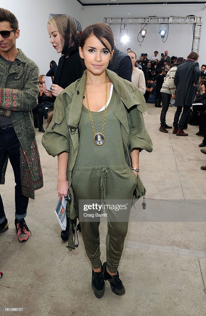 <a gi-track='captionPersonalityLinkClicked' href=/galleries/search?phrase=Miroslava+Duma&family=editorial&specificpeople=7039024 ng-click='$event.stopPropagation()'>Miroslava Duma</a> attends the Derek Lam fall 2013 fashion show during Mercedes-Benz Fashion Week at Sean Kelly Gallery on February 10, 2013 in New York City.