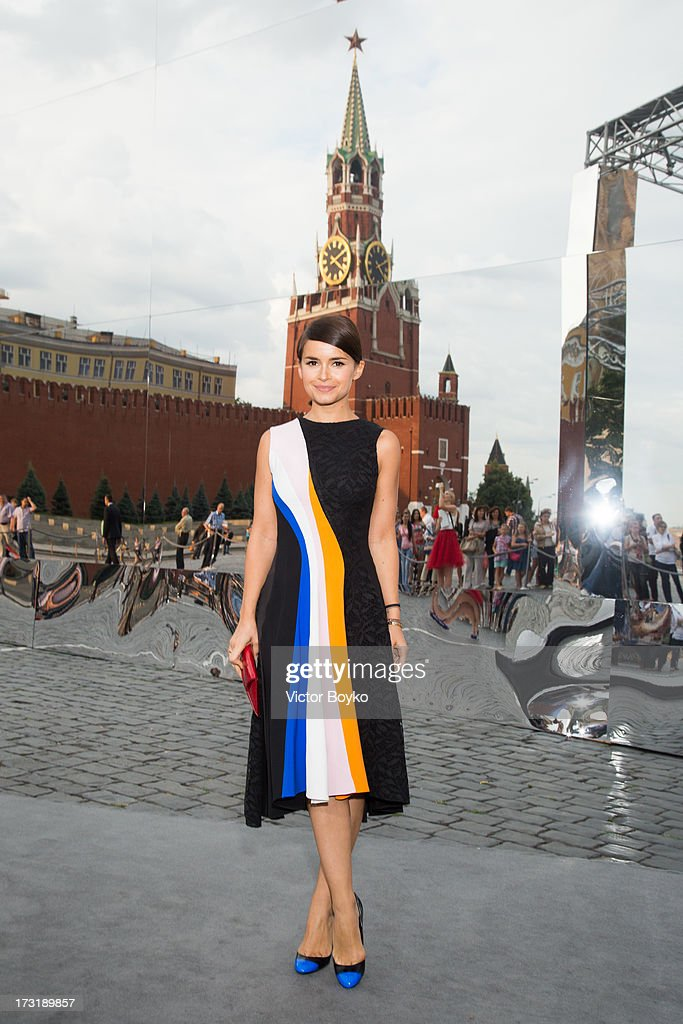 Miroslava Duma attends the Dior A/W 2013-2014 show at Red Square on July 9, 2013 in Moscow, Russia.