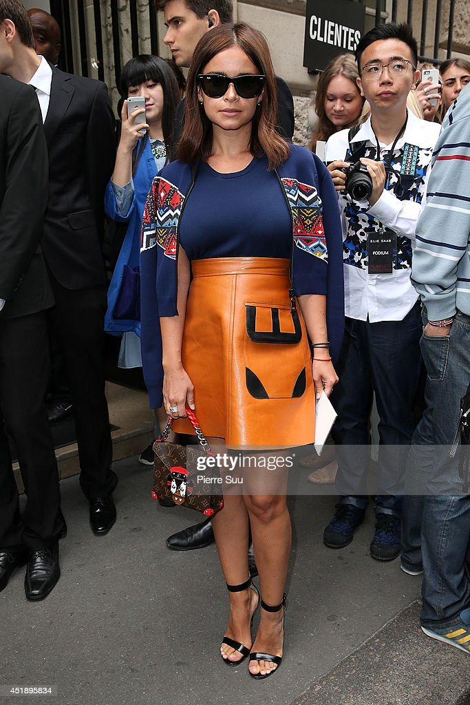 <a gi-track='captionPersonalityLinkClicked' href=/galleries/search?phrase=Miroslava+Duma&family=editorial&specificpeople=7039024 ng-click='$event.stopPropagation()'>Miroslava Duma</a> attends the Elie Saab show as part of Paris Fashion Week - Haute Couture Fall/Winter 2014-2015 at Pavillon Cambon Capucines on July 9, 2014 in Paris, France.