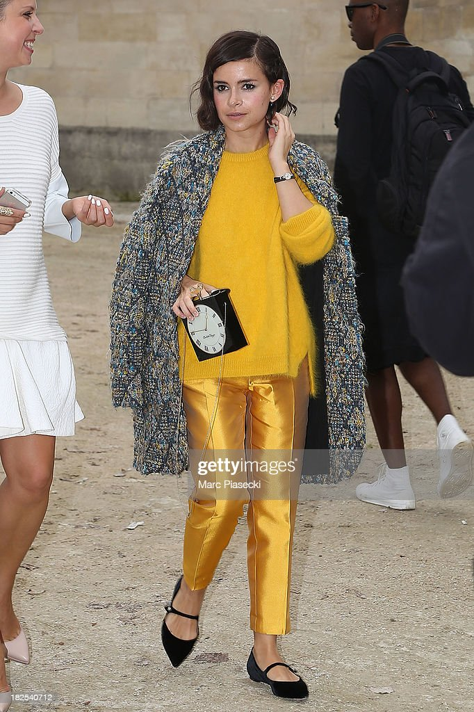 <a gi-track='captionPersonalityLinkClicked' href=/galleries/search?phrase=Miroslava+Duma&family=editorial&specificpeople=7039024 ng-click='$event.stopPropagation()'>Miroslava Duma</a> attends the Elie Saab show as part of the Paris Fashion Week Womenswear Spring/Summer 2014 on September 30, 2013 in Paris, France.