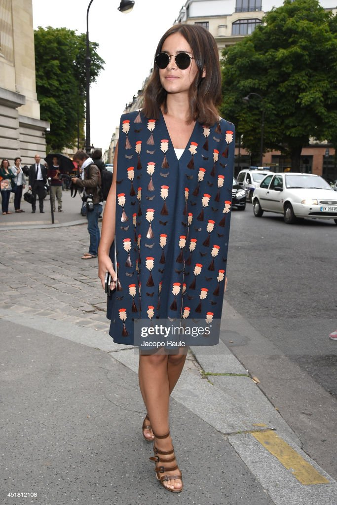 Miroslava Duma attends the Giambattista Valli show as part of Paris Fashion Week Haute Couture Fall/Winter 20142015 on July 7 2014 in Paris France