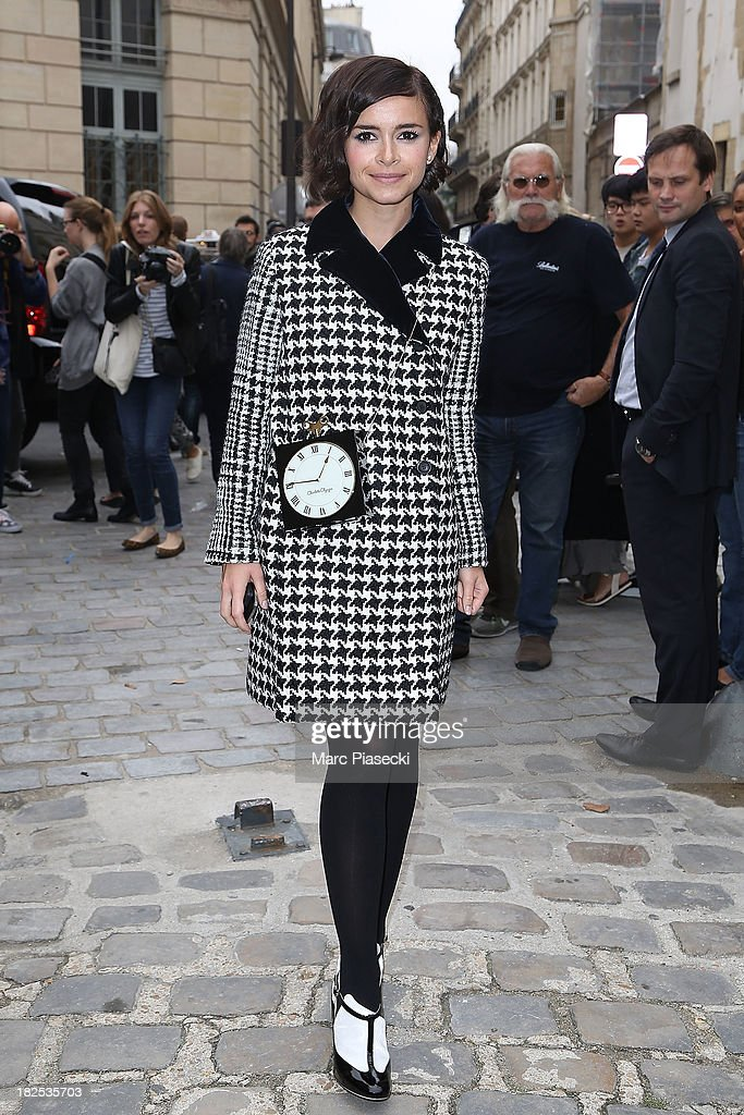 <a gi-track='captionPersonalityLinkClicked' href=/galleries/search?phrase=Miroslava+Duma&family=editorial&specificpeople=7039024 ng-click='$event.stopPropagation()'>Miroslava Duma</a> attends the Giambattista Valli show as part of the Paris Fashion Week Womenswear Spring/Summer 2014 on September 30, 2013 in Paris, France.
