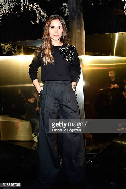 Miroslava Duma attends the HM show as part of the Paris Fashion Week Womenswear Fall/Winter 2016/2017 on March 2 2016 in Paris France