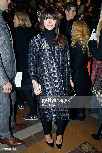 Miroslava Duma attends the Lanvin show as part of the Paris Fashion Week Womenswear Fall/Winter 2015/2016 Held at Ecole des Beaux Arts on March 5...