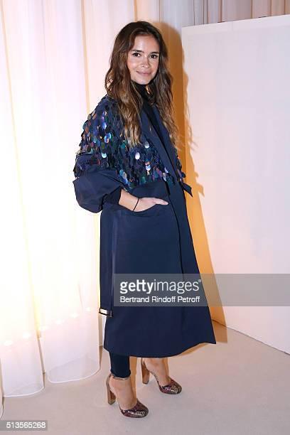 Miroslava Duma attends the Lanvin show as part of the Paris Fashion Week Womenswear Fall/Winter 2016/2017 on March 3 2016 in Paris France
