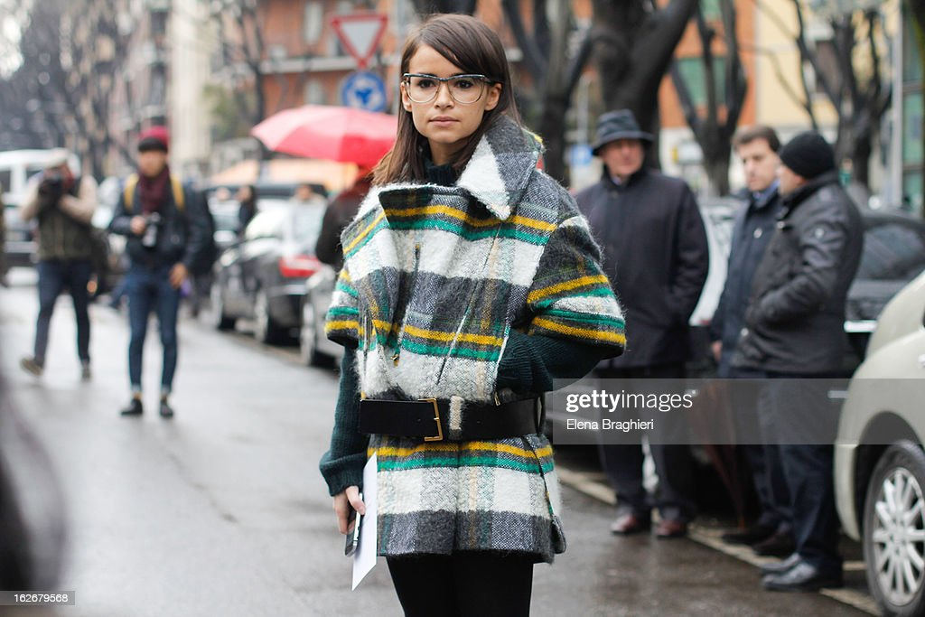 <a gi-track='captionPersonalityLinkClicked' href=/galleries/search?phrase=Miroslava+Duma&family=editorial&specificpeople=7039024 ng-click='$event.stopPropagation()'>Miroslava Duma</a> attends the Milan Fashion Week Womenswear Fall/Winter 2013/14 on February 25, 2013 in Milan, Italy.