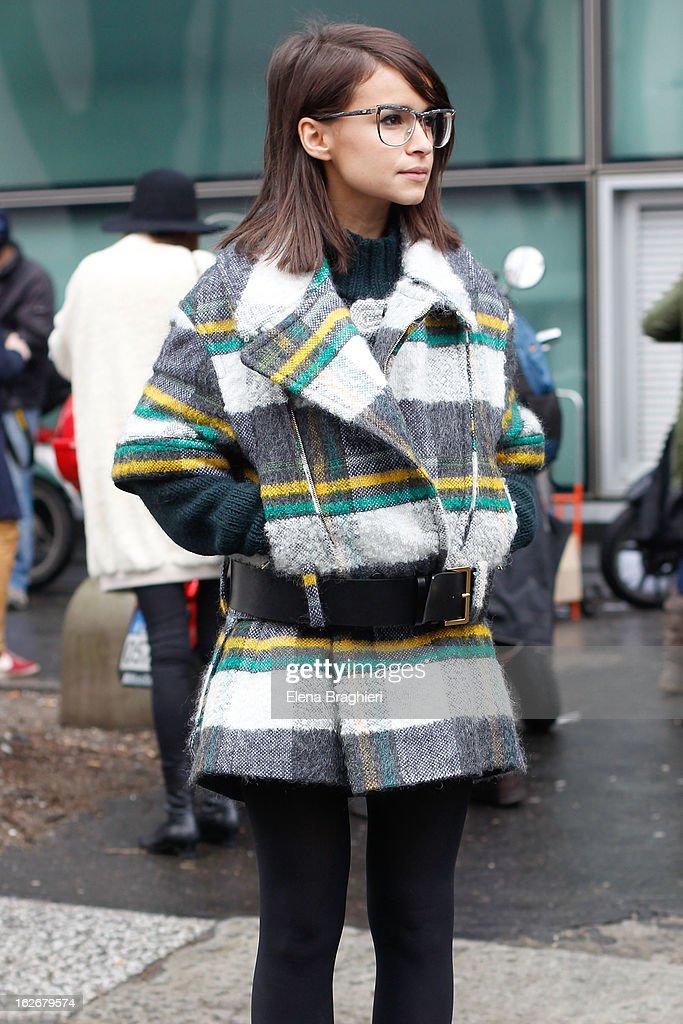 Miroslava Duma attends the Milan Fashion Week Womenswear Fall/Winter 2013/14 on February 25, 2013 in Milan, Italy.
