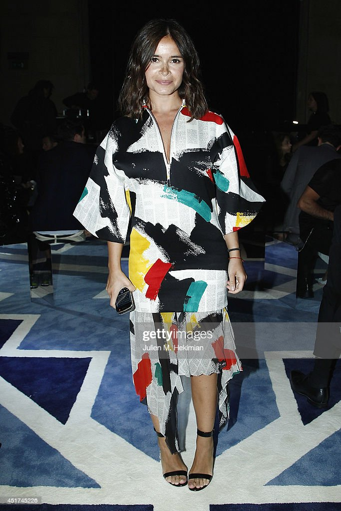 <a gi-track='captionPersonalityLinkClicked' href=/galleries/search?phrase=Miroslava+Duma&family=editorial&specificpeople=7039024 ng-click='$event.stopPropagation()'>Miroslava Duma</a> attends the Miu Miu Resort Collection 2015 at Palais d'Iena on July 5, 2014 in Paris, France.