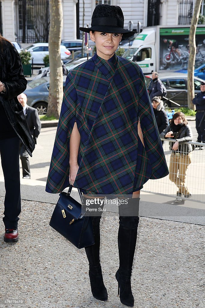 <a gi-track='captionPersonalityLinkClicked' href=/galleries/search?phrase=Miroslava+Duma&family=editorial&specificpeople=7039024 ng-click='$event.stopPropagation()'>Miroslava Duma</a> attends the Miu Miu show as part of the Paris Fashion Week Womenswear Fall/Winter 2014-2015 on March 5, 2014 in Paris, France.