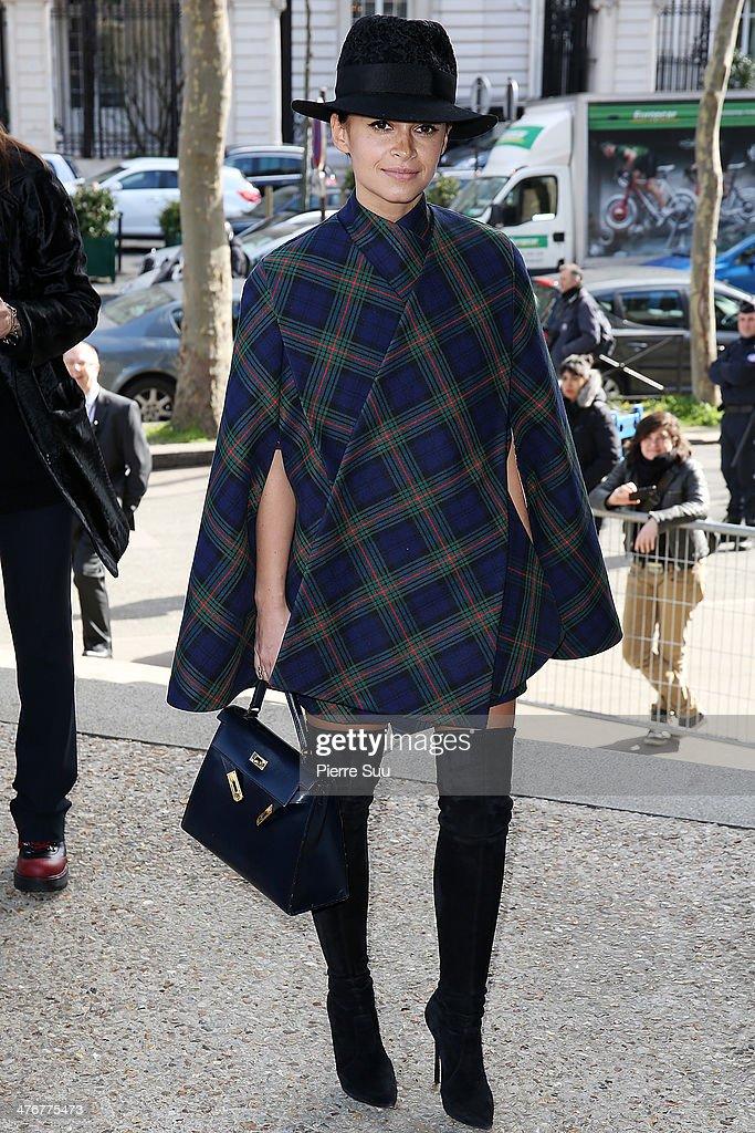 Miroslava Duma attends the Miu Miu show as part of the Paris Fashion Week Womenswear Fall/Winter 20142015 on March 5 2014 in Paris France