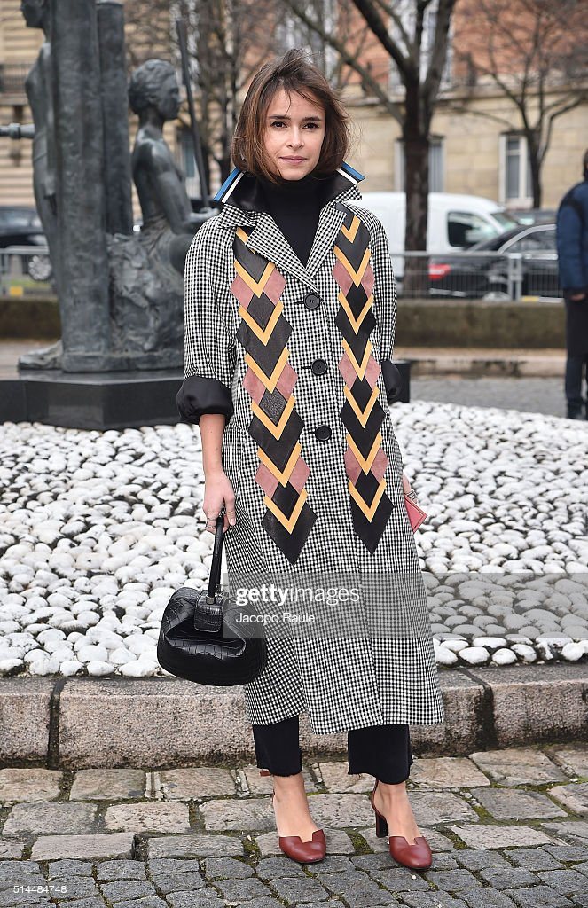 Miroslava Duma attends the Miu Miu show as part of the Paris Fashion Week Womenswear Fall Winter 2016/2017 on March 9 2016 in Paris France