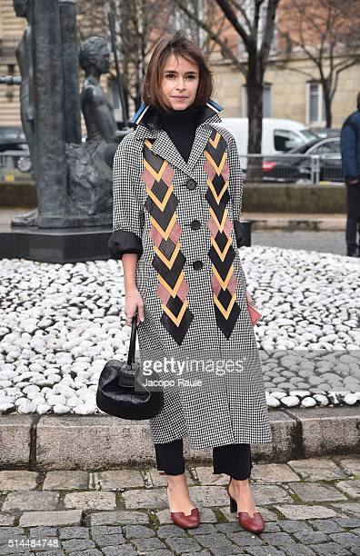 Miroslava Duma attends the Miu Miu show as part of the Paris Fashion Week Womenswear Fall Winter 2016/2017 on March 9 2016 in Paris France