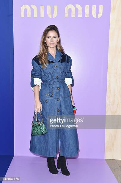 Miroslava Duma attends the Miu Miu show as part of the Paris Fashion Week Womenswear Spring/Summer 2017 on October 5 2016 in Paris France