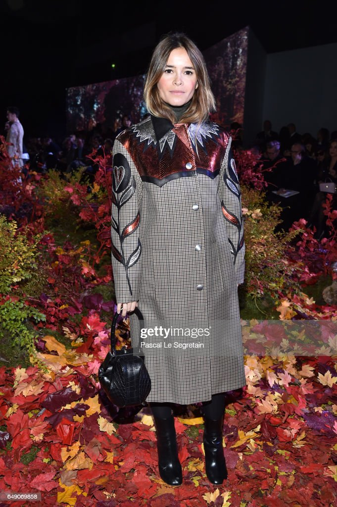 Miroslava Duma attends the Moncler Gamme Rouge show as part of the Paris Fashion Week Womenswear Fall/Winter 2017/2018 on March 7, 2017 in Paris, France.