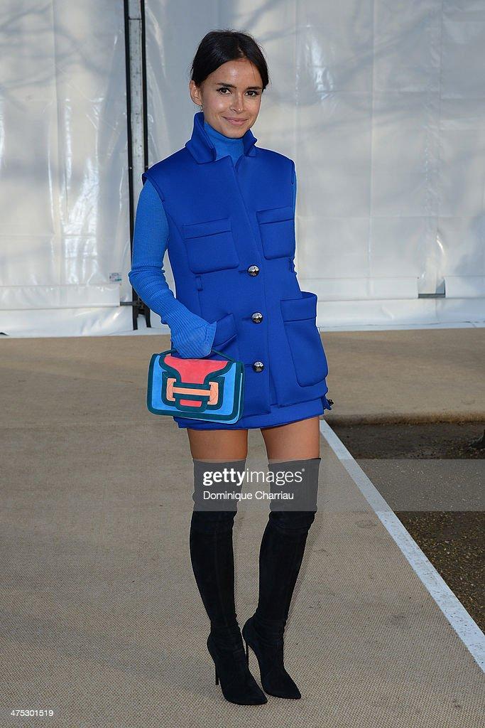 Miroslava Duma attends the Nina Ricci show as part of the Paris Fashion Week Womenswear Fall/Winter 20142015 on February 27 2014 in Paris France