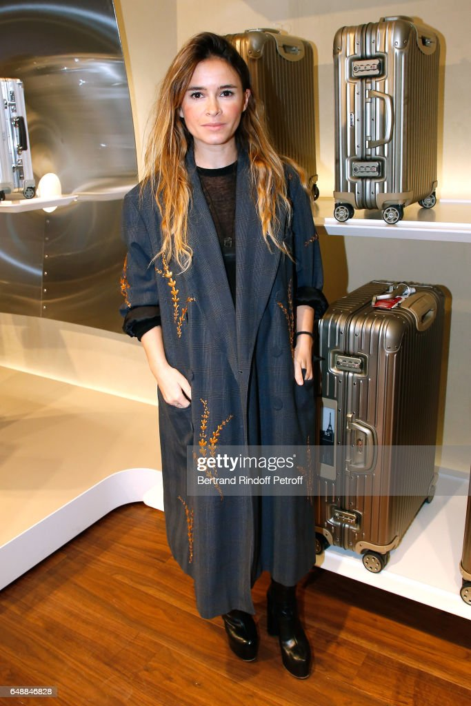 Miroslava Duma attends the Opening of the Boutique Rimowa - 73 Rue du Faubourg Saint Honore in Paris on March 6, 2017 in Paris, France.
