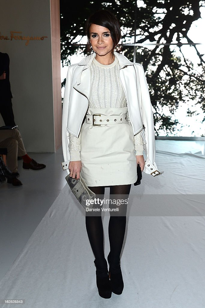 Miroslava Duma attends the Salvatore Ferragamo fashion show as part of Milan Fashion Week Womenswear Fall/Winter 2013/14 on February 24, 2013 in Milan, Italy.