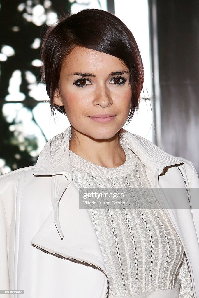 Miroslava Duma attends the Salvatore Ferragamo fashion show during Milan Fashion Week Womenswear Fall/Winter 2013/14 on February 24, 2013 in Milan, Italy.