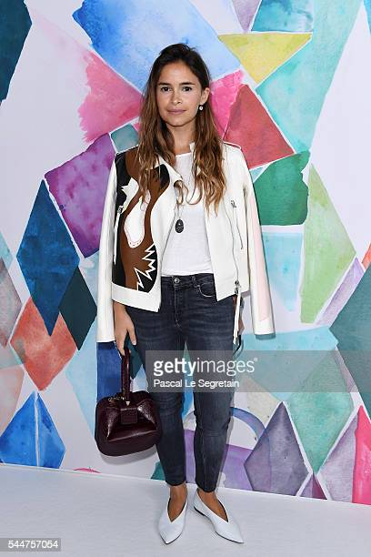 Miroslava Duma attends the Schiaparelli Haute Couture Fall/Winter 20162017 show as part of Paris Fashion Week on July 4 2016 in Paris France