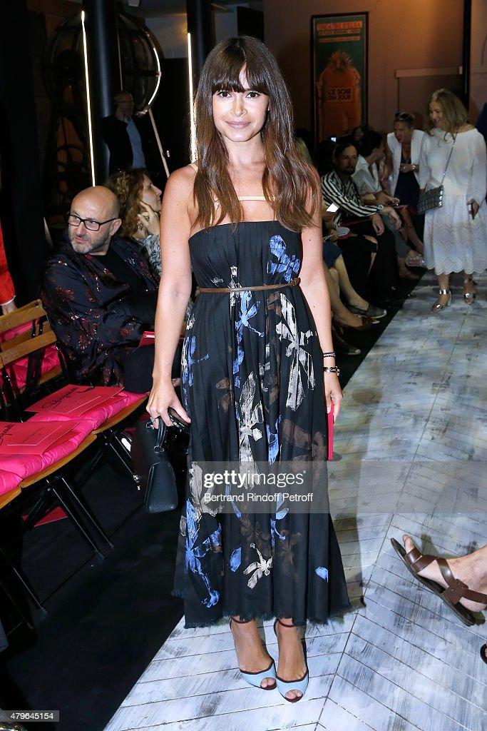 Miroslava Duma attends the Schiaparelli show as part of Paris Fashion Week Haute Couture Fall/Winter 2015/2016 on July 6 2015 in Paris France