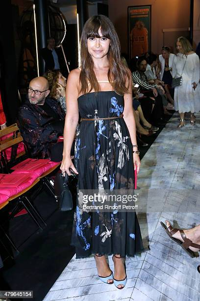 Miroslava Duma attends the Schiaparelli show as part of Paris Fashion Week Haute Couture Fall/Winter 2015/2016 on July 6 2015 in Paris France