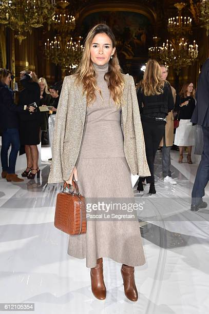 Miroslava Duma attends the Stella McCartney show as part of the Paris Fashion Week Womenswear Spring/Summer 2017 on October 3 2016 in Paris France