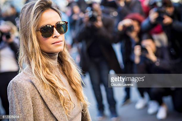 Miroslava Duma attends the Stella McCartney show on day 7 of Paris Womens Fashion Week Spring/Summer 2017 on October 3 2016 in Paris France