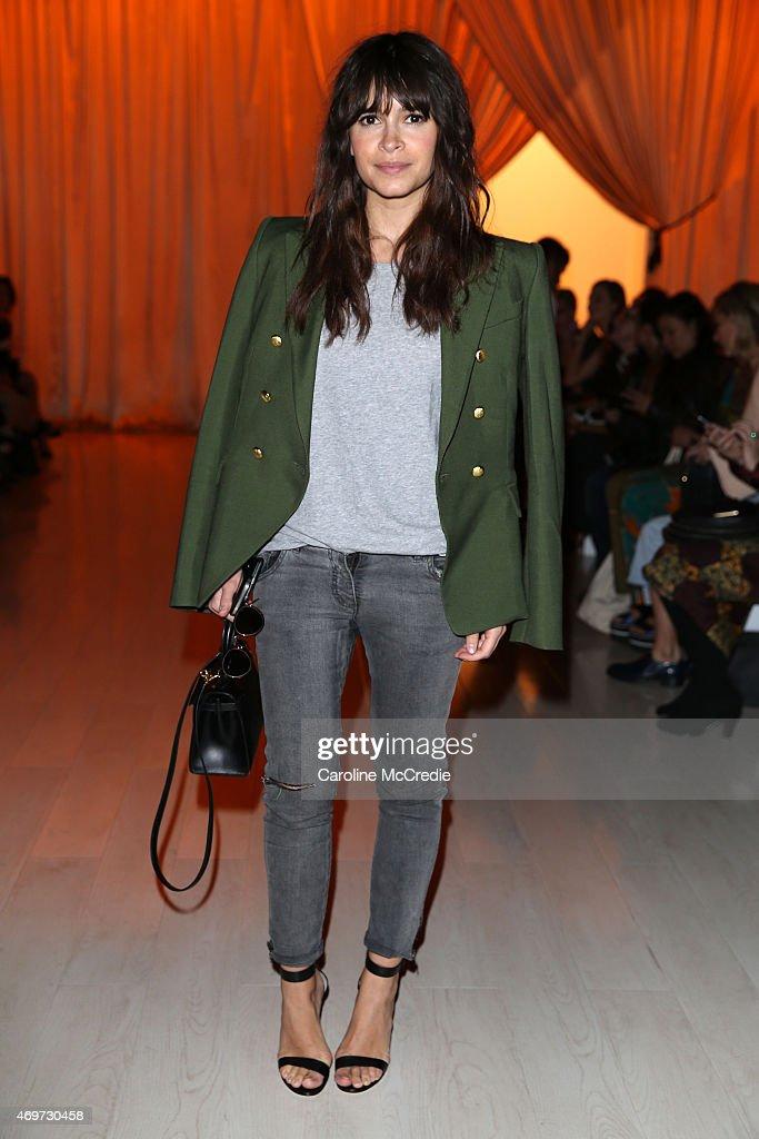 Miroslava Duma attends the Steven Khalil show at MercedesBenz Fashion Week Australia 2015 at Carriageworks on April 15 2015 in Sydney Australia
