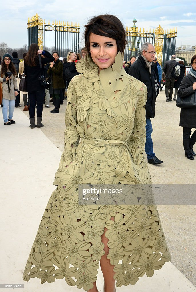 Miroslava Duma attends the Valentino - Outside Arrivals - PFW F/W 2013 at the Espace Ephemere des Tuileries on March 5, 2013 in Paris, France.