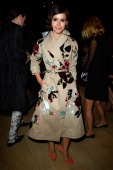 Miroslava Duma attends the Valentino show as part of the Paris Fashion Week Womenswear Spring/Summer 2014 at Espace Ephemere Tuileries on October 1...