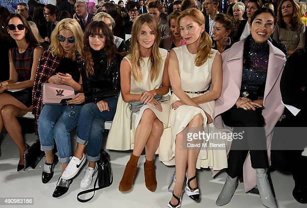 Miroslava Duma Cressida Bonas Lucie de la Falaise and Caroline Issa attend the Christian Dior show as part of the Paris Fashion Week Womenswear...