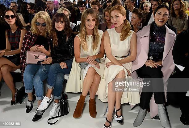 Miroslava Duma Cressida Bonas Lucie de la Falaise and Caroline Issa attend the Christian Dior show as part of the Paris Fashion Week Womenswear...