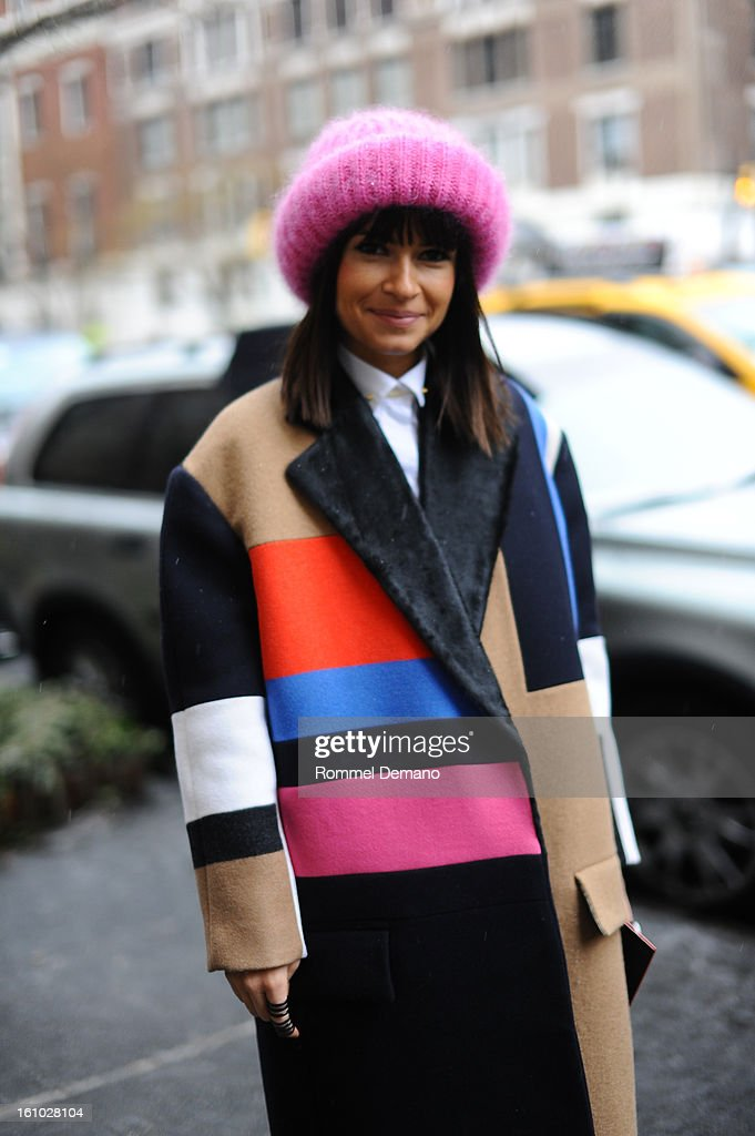 Miroslava Duma, Fashion Consultant, attends the Jason Wu show wearing a Celine Jacket on February 8, 2013 in New York City.